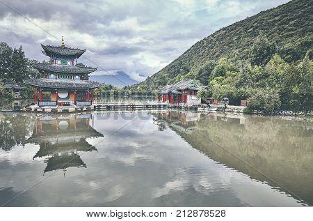 Jade Spring Park In Lijiang, China.