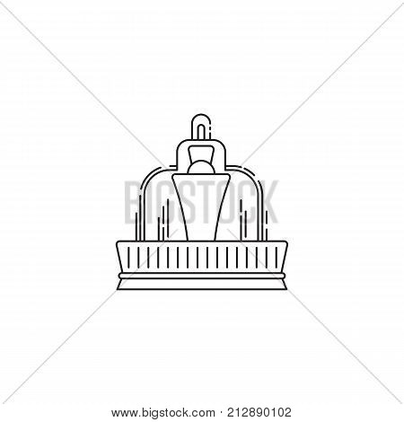 Fountain icon vector linear design isolated on white background. Park logo template, element for amusement park, line icon object.