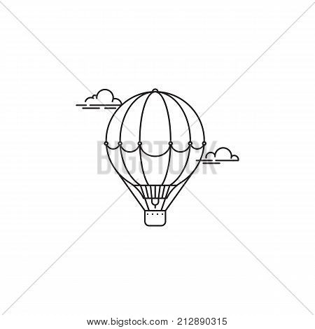 Park and playgroundAir balloon icon vector linear design isolated on white background. Park logo template, element for amusement park, line icon object.