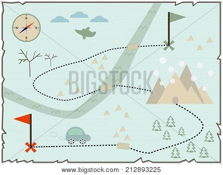 Map Of Treasure Island Treasure Map Baby Map Illustration Of The Winter Maps To Find Treasure Treasu