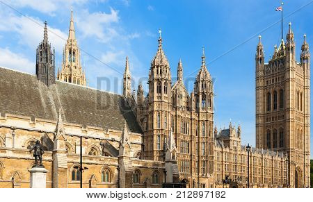 Houses of Parliament, London, England. Meeting place for british politicians and landmark