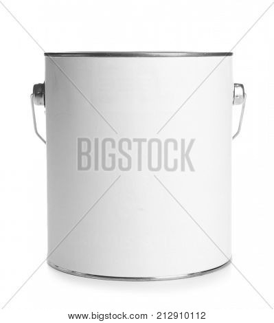 Paint can, isolated on white