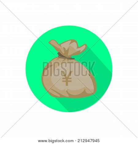 Bag With Money. Vector Illustration .