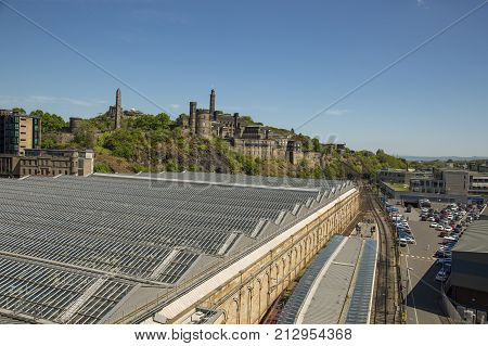 EDINBURGH SCOTLAND - 26th May 2017 - Waverly is the main station in Edinburgh with over 20 platforms in operation at any one time.