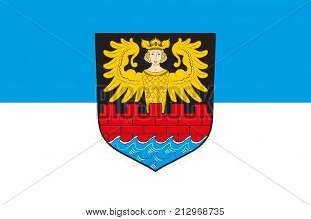 Flag of Emden is a town and seaport in Lower Saxony in the northwest of Germany. Vector illustration