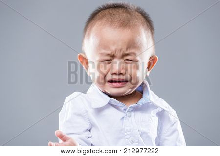 Asian baby boy cry