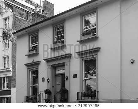 Abbey Road Studios In London Black And White