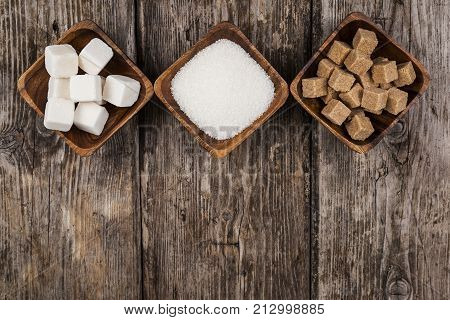 Three Bowls With Sugar