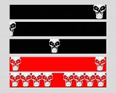 5 banners all created with my orginal skull design3 black 2 red. poster