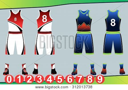 A Vector Illustration Of Basketball Jersey Template