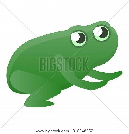 Jumping Frog Icon. Cartoon Of Jumping Frog Vector Icon For Web Design Isolated On White Background