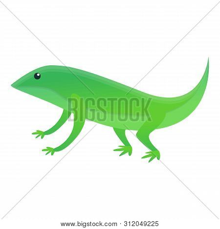Home Lizard Icon. Cartoon Of Home Lizard Vector Icon For Web Design Isolated On White Background
