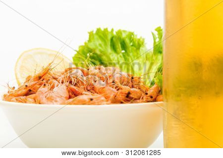Snack To Beer, Boiled Black Sea Prawns With Spices