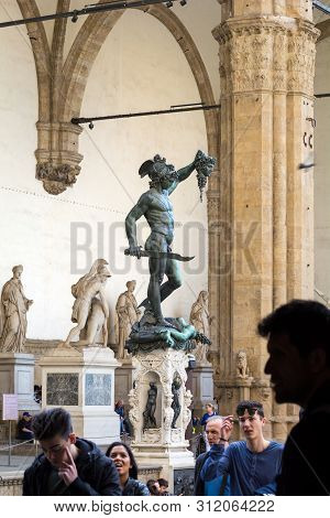 Bronze Statue Of The Perseus With The Head Of Medusa