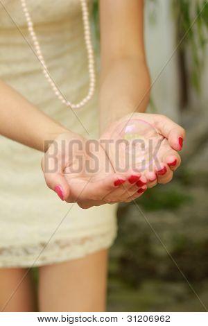 Bubble in hands II