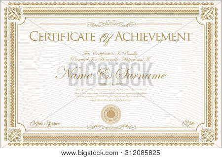 Certificate Or Diploma Retro Vintage Design 01.eps
