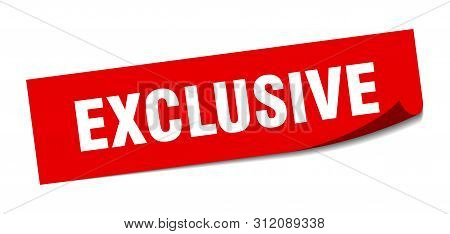 Exclusive Sticker. Exclusive Square Isolated Sign. Exclusive