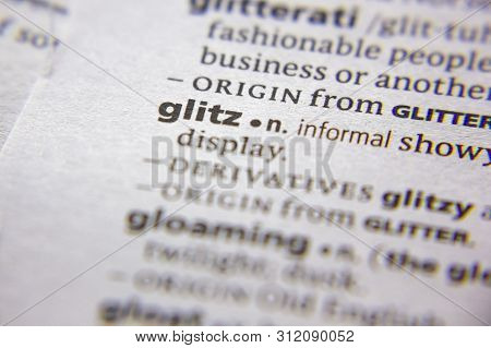 Word Or Phrase Glitz In A Dictionary
