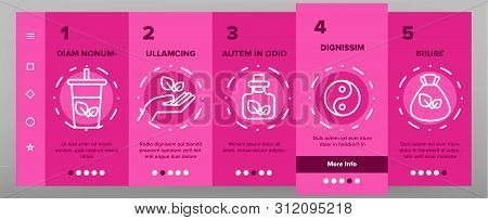 Naturopathy Therapy Vector Onboarding Mobile App Page Screen. Naturopathy, Homeopathic Medication Li