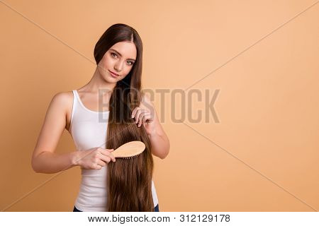 Portrait Of Her She Nice-looking Lovely Winsome Gorgeous Attractive Well-groomed Perfect Lady Combin