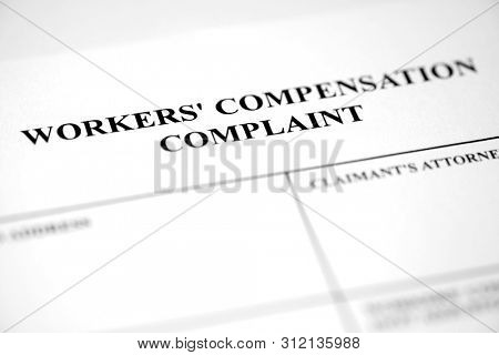 Worker's Compensation Complaint Form Injury Payment