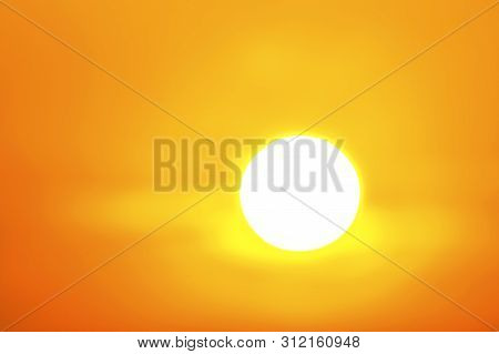 Global Warming From The Sun And Burning, Heatwave Hot Sun, Climate Change,