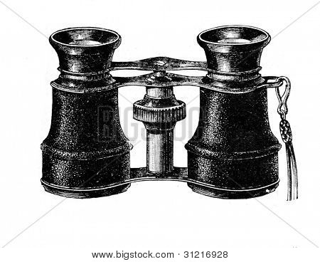Opera glasses. Engraving from  magazine