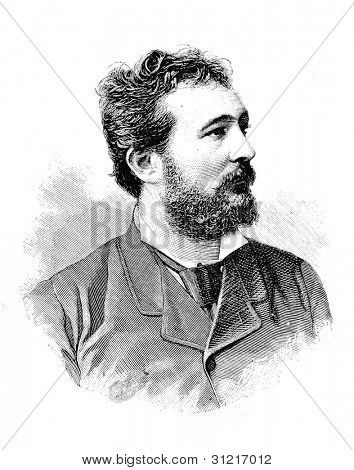 Masini - first tenor of the St. Petersburg Italian opera. Engraving by  Baranowski . Published in magazine