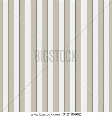 Seamless Geometric Pattern In Cute White Stripes On Burlap Fond. Print For Textile, Fabric Manufactu