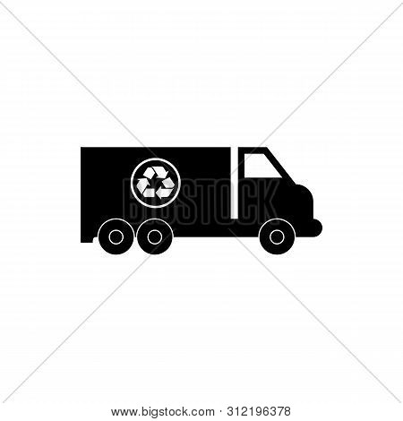 Garbage Truck Icon Isolated On White Background. Garbage Truck Icon Simple Sign. Garbage Truck Icon