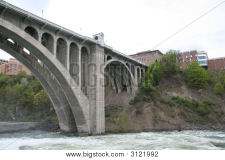 Monroe Street Bridge In Spokane