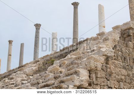 Tyre Hippodrome. Roman Remains In Tyre. Tyre Is An Ancient Phoenician City. Tyre, Lebanon