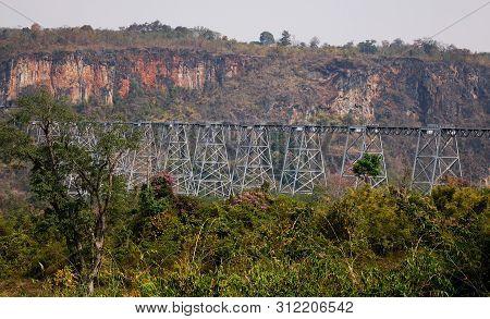 Goteik Viaduct In Nawnghkio, Myanmar