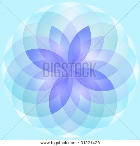Background abstract lotus flower vector