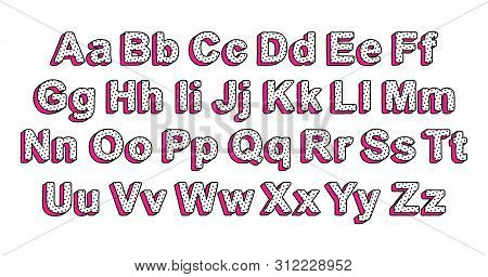 Cute Uppercase And Lowercase Letters Of The English Alphabet In The Style Of Lol Doll Surprise. Read