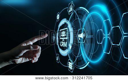 Crm Customer Relationship Management Business Internet Techology Concept