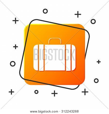 White Suitcase For Travel Icon Isolated On White Background. Traveling Baggage Sign. Travel Luggage