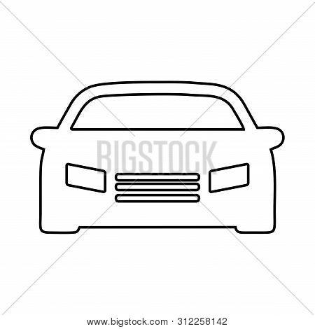 poster of Car Icon, Car Icon Vector, Car Icon Object, Car Icon Image, Car Icon Picture, Car Icon Graphic, Car Icon Art, Car Icon Drawing, Abstract car vector logotype. Car logo template.  Auto icon symbol. Linear silhouette logo design. EPS10