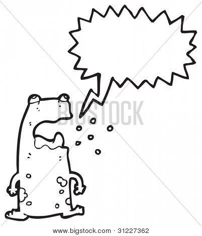 burping frog cartoon poster