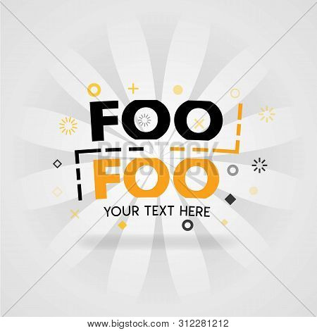 Orange Logo Template For Foo Foo Recipes . For Promotion, Advertising, Marketing. Can Be For Food Ap
