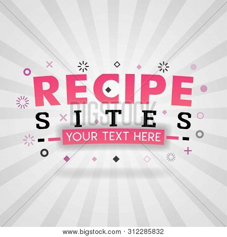 Pink Logo For Recipe Site. For Recipe Websites, Food Blog, Today Recipes, Buy Food Mobile App, Free