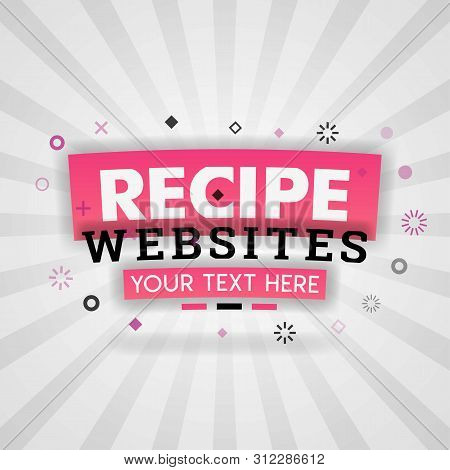 Pink Logo For Recipe Websites. For Recipe Websites, Food Blog, Today Recipes, Buy Food Mobile App, F