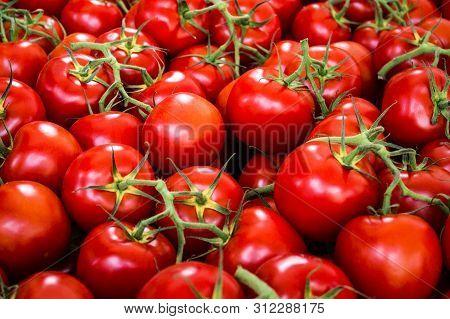 Tomato Background - Raw Tomatoes Closeup Tomato Background - Raw Tomatoes Closeup