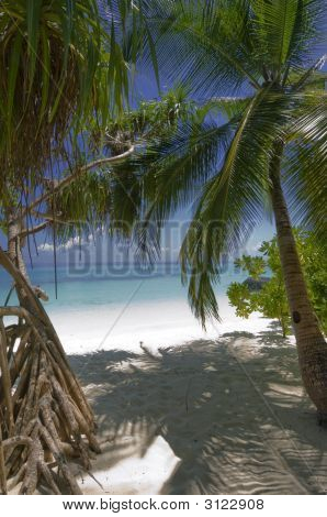 Entrance To One Of  Best White-Sand Maldives Beaches