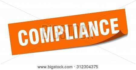 Compliance Sticker. Compliance Square Isolated Sign. Compliance