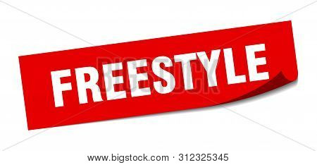 Freestyle Sticker. Freestyle Square Isolated Sign. Freestyle