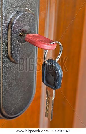 key in the door lock