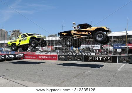 July 14, 2019 - Toronto, Ontario, CAN: The Super Stadium Truck Challenge teams take to the track to race for the Hondy Indy Toronto at Streets of Toronto in Toronto Ontario.
