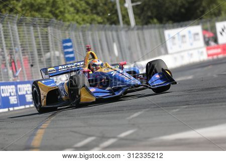 July 14, 2019 - Toronto, Ontario, CAN: ALEXANDER ROSSI (27) of the United States races through the turns during the  race for the Honda Indy Toronto at Streets of Toronto in Toronto, Ontario.