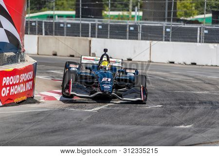 July 13, 2019 - Toronto, Ontario, CAN: SPENCER PIGOT (21) of the United State practices for the Hondy Indy Toronto at Streets of Toronto in Toronto, Ontario.